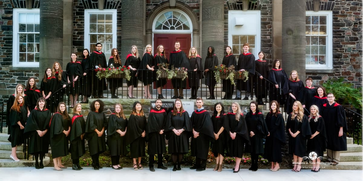 Halifax photographer for Dalhousie University Graduation group photo taken at Dalhousie University Halifax
